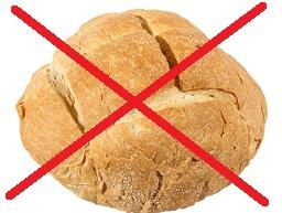 Geen brood eten afvallen